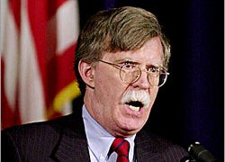 US ambassador Bolton urged action instead of speeches