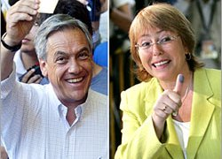 Bachelet leads Pinera, but not by a knock-out margin
