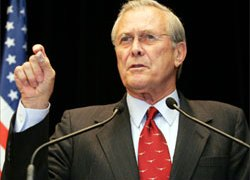 Rumsfeld has often been at the centre of diplomatic rows