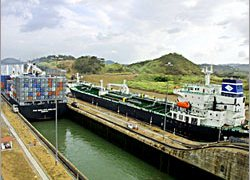 Modern cargo ships are too big to use the Panama Canal