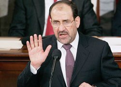 Al-Maliki is keen to end Iraq's dependency on the US military