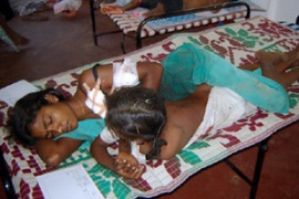 Civilians have become victims of the violence in Sri Lanka being caught up in artillery fire and shelling
