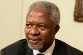 Kofi Annan will have 30 days to prepare the group