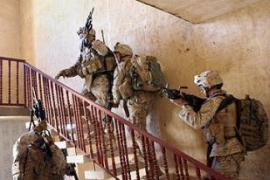 US marines search a house in Iraq