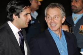 Tony Blair, right, is expected to double hissecurity funding pledge