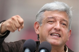 Obrador has never accepted the result of the presidential elections in July