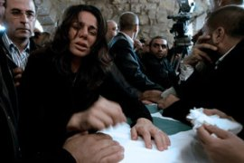 Nicole, Pierre Gemayel's sister, is among the thousands in mourning