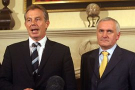 Blair and Ahern called for a compromise