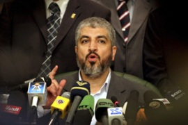 Meshaal directed his message on Palestinianexpectations to the international powers