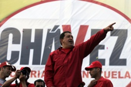 President Huge Chavez is seeking another six year term