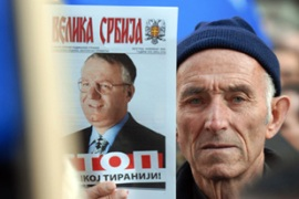 Radical Party supporters hope Seselj will prove that Serbia was not guilty of war crimes [AFP]