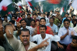 The opposition Awami League has been agitating against the elction body