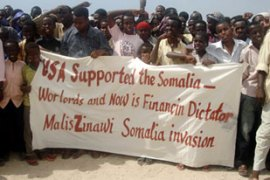 About 10,000 Somalis held a rally ahead of UN talks on sending peacekeepers to Somalia