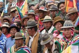 Indigenous Bolivian peasants form the backbone of Morales's leftist government