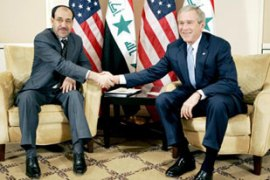Al-Maliki's meeting with Bush in Amman onThursday has sparked a boycott by Sadrists