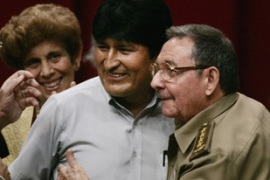 Raul Castro, Fidel's brother and acting president, has had to entertain the birthday guests