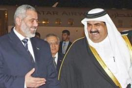 Haniya received a promise of aid valued at $30m a month during a recent visit to Qatar