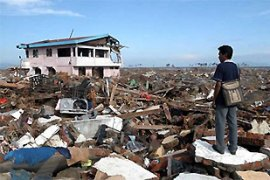 The tsunami destroyed more than 800km of Aceh's coastline in 2004