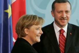 Merkel has offered support over finding a solution to Cyprus