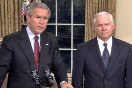 Bush said he had directed Robert Gates, the defence secretary, to consult army commanders on Iraq