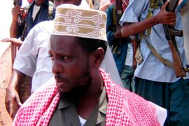 Sheikh Sharif Sheikh Ahmed addressed a protest rally against foreign peacekeepers in Somalia