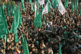 Hamas took control of the Palestinian parliament and cabinet after elections in January