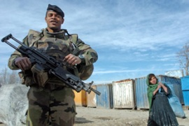 France has around 2000 troops in Afghanistan