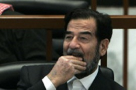 The death penalty against Saddam may not require presidential approval [AFP]