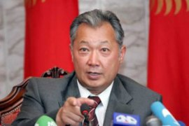 President Bakiyev has been accused of slowing the pace of Kyrgyzstan's democratic reform [EPA]