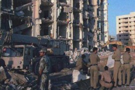Nineteen Americans were killed when a truck bomb exploded in a military housing area [AP]