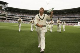 Warne took five wickets on front of nearly 90,000 people in his home-city of Melbourne [Reuters]