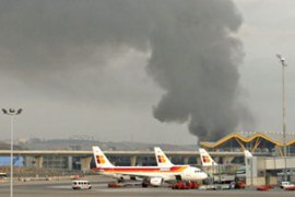The blast at the airport terminal left four people injured including two police officers[AFP]
