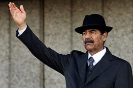Saddam Hussein became one of the iconic figures of the Middle East [AFP]