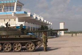 Ethiopian troops have helped the government of Somalia control Mogadishu's airport  [AFP