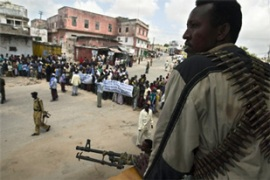 With the help of Ethiopian forces, the Somali interim government has control of Mogadishu [AFP]