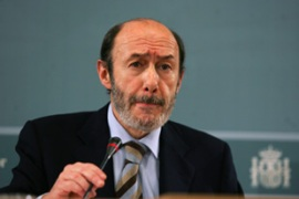 Rubalcaba, the interior minister, has called for a unified approach to dealing with Eta [AFP]