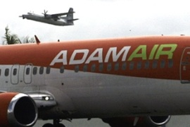The Adam Air flight altered course twice before disappearing on New Year's Day [Reuters]