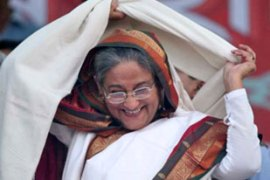 Sheikh Hasina was prime minister of Bangladesh from 1996 to 2001 [EPA]