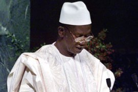 Lansana Conte has run Guinea since a bloodless military coup in 1984 [AP]