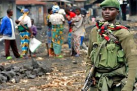 Congolese soldiers have clashed with forces loyalto Laurent Nkunda, a renegade general [EPA]