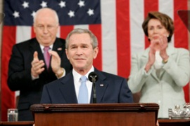 Bush used his State of the Union speech to urge congress to give his Iraq plan a chance [Reuters]
