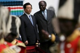 This is Hu's third visit to Africa in as many years [EPA]