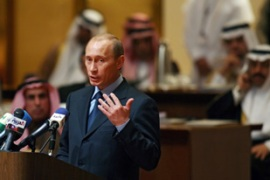 Putin pledged to develop ties with the Islamic world during his first visit to Riyadh [AFP]