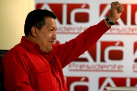 Opponents of Chavez say he has been squeezing freedom of speech and democratic rights [EPA]