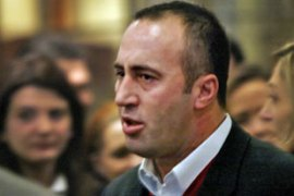 Haradinaj is accused of masterminding a campaign to drive Serbs and Roma from their villages [AFP]