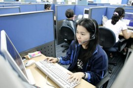 The study found that call centre workers and IT staff were most susceptible [Reuters]