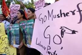 Chaudhry's suspension sparked anti-Musharraf protests throughout Pakistan [AFP]