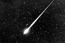 Space experts say an average of about 50 meteoroids enter the Earth's atmosphere every day [Nasa]