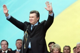 Yanukovich has seen his parliamentary majority expand [AFP]