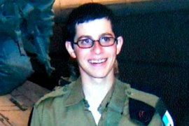Gilad Shalit was seized by Palestinian fighterson June 26 last year [EPA]
